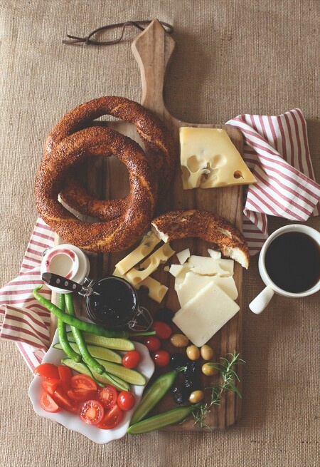 "Turkish Breakfast - ""Simit"" (Turkish sesame pastry)"