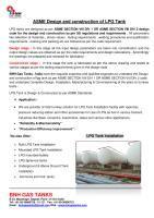 ASME Design & Construction  - LPG TANK