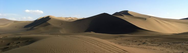 """https://flic.kr/p/DdgFQt   China - Dunhuang - Taklamakan Desert - 12b   The Taklamakan Desert, also known as Taklimakan and Teklimakan, is a desert in southwest Xinjiang Uyghur Autonomous Region, northwest China. It is bounded by the Kunlun Mountains to the south, the Pamir Mountains and Tian Shan (ancient Mount Imeon) to the west and north, and the Gobi Desert to the east.  The name may be an Areeb Uyghur borrowing of the Arabic tark, """"to leave alone/out/behind, relinquish, abandon&quo..."""