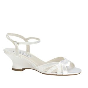 """http://www.sexyshoes.co.nz Style: Margie 261 Material: Satin  Colour: White  Dyable: Yes  Height: 1 3/4"""" Sizes: 5-12 $159"""