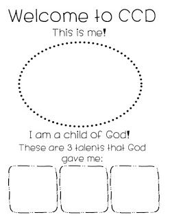 Child of God Welcome to Class Lesson from Little Miss Catechist. For all CCD, Catechism, and Sunday School teachers. A Kid's favorite!