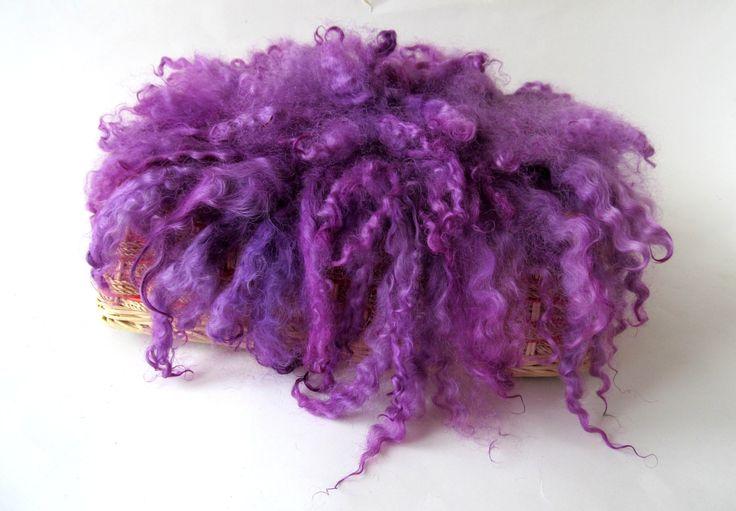Mini Fur, Wool Photo Prop, Felt Mat, Felt layering Piece, hand Felted Wool, Purple Basket stuffer  RTS by FeltFur on Etsy