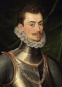 Don Juan de Austria(Ratisbona,1545-Bouge, 1578), hijo ilegítimo del reyCarlos I de España y V del Sacro Imperio Romano Germánico, y deBárbara Blomberg. Fué miembro de laFamilia Real Española,militarydiplomáticodurante el reinado de su hermano (por vía paterna)Felipe II. Perteneció a las fuerzas de infanteria de los Tercios Españoles. Participó en las batallas de las Alpujarras, Lepanto, Flandes y Glembloux.