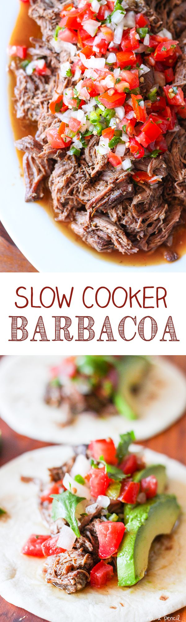 Slow Cooker Barbacoa Beef  Perfect on tacos, in burritos, burrito bowls or just as a main dish with rice and beans!