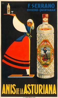 Antiguo anuncio de ANÍS DE LA ASTURIANA, perteneciente a Hijos de Francisco…