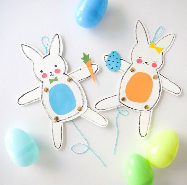 DIY Jumping Jack Bunnies. How cute are these?!