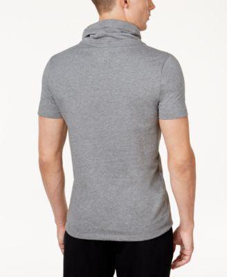 Calvin Klein Men's Slim-Fit Funnel-Neck Short-Sleeve Sweatshirt - Black XXL