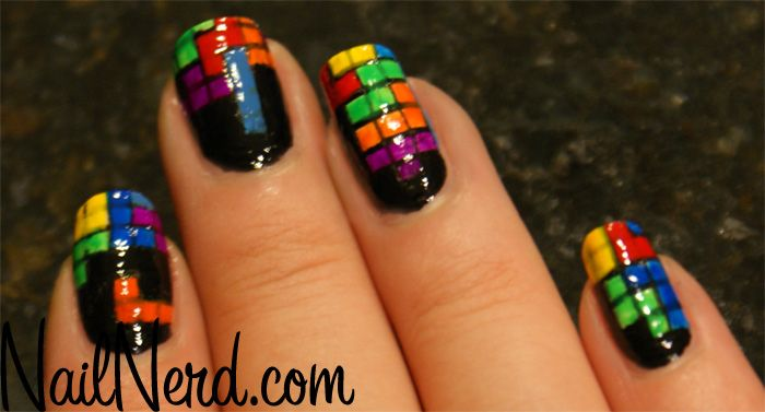 are you kidding me?!  tetris nails!