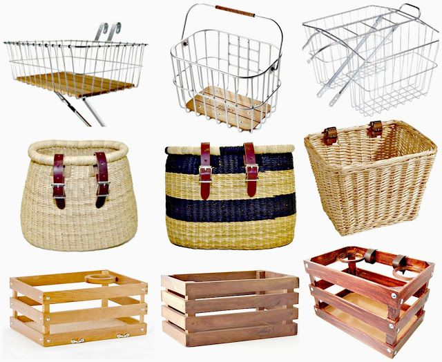 C I T Y G I R L R I D E S: Cute Bicycle Baskets