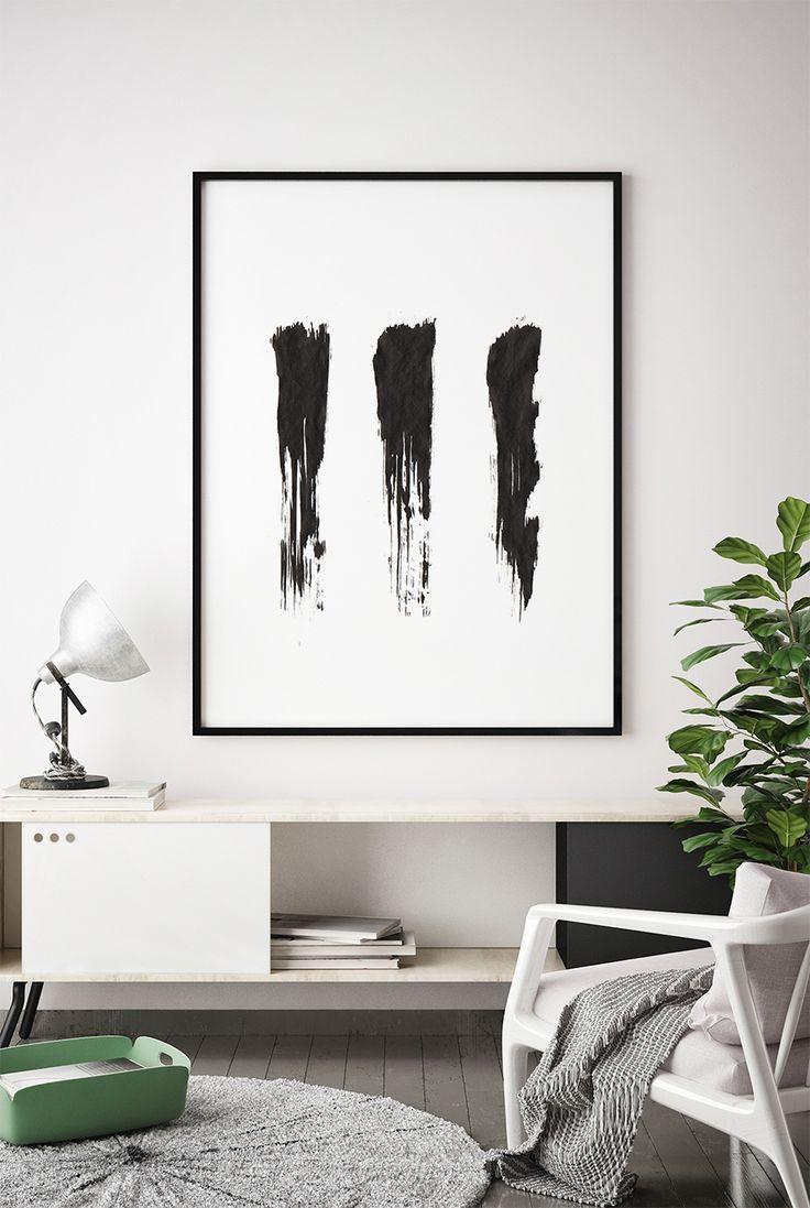 Minimalist Office Room Black White