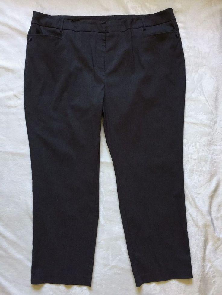 Lane Bryant Womens Grey Dress Pants Plus Size 28 Stretch Career Work Slacks #LaneBryant #DressPants #WeartoWork