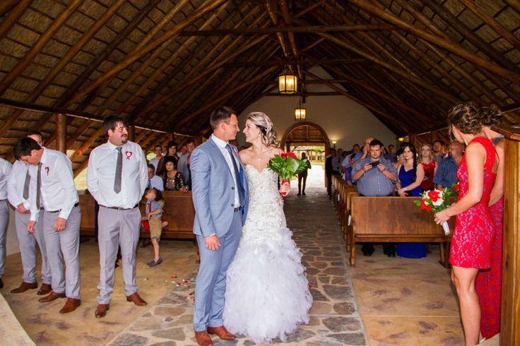 Wedding photo in chapel Lapeng Lodge