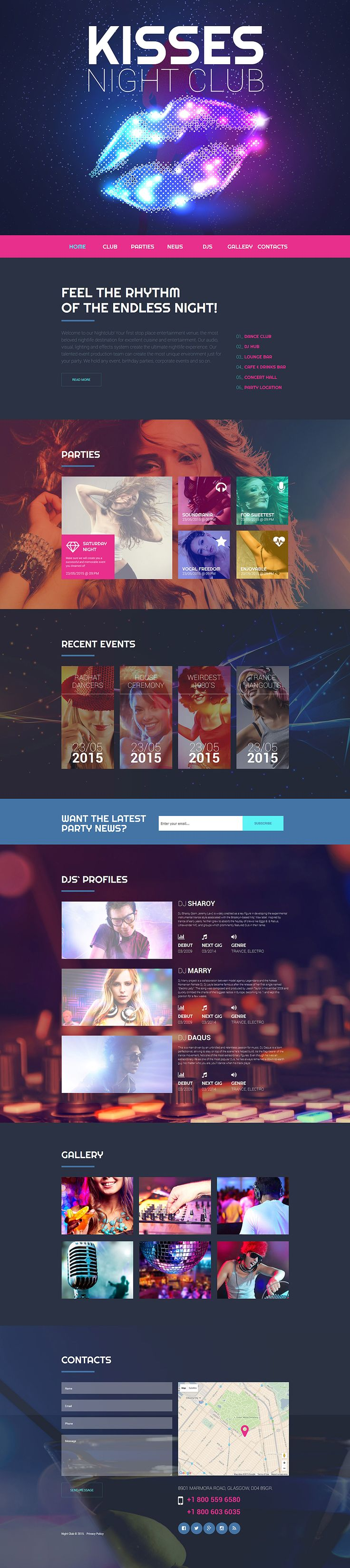 Nighttime Entertainment Website Template #nightclub http://www.templatemonster.com/website-templates/55735.html?utm_source=pinterest&utm_medium=timeline&utm_campaign=55735