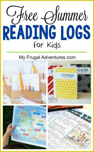 Several free printable reading logs to keep the kids on track and motivated this summer. Several creative ideas to make reading fun!