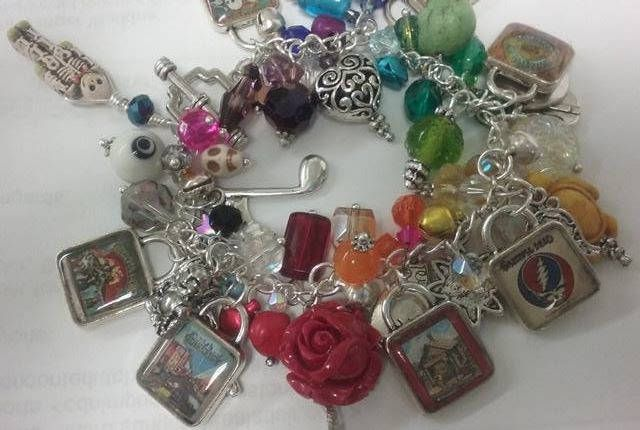 Grateful Dead Album Cover Charm Bracelet by ElementalMercury on Etsy