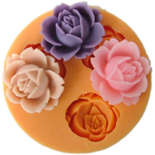 3D Rose Flower Fondant Cake Cookie Chocolate Mold Cutter Modelling Tools F0101Board