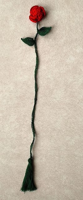 Ravelry: Long Stem Rose Bookmark pattern by Josey Louis
