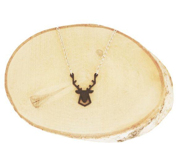 Geometric Deer Necklace 3D print van Smart3Dprint op Etsy