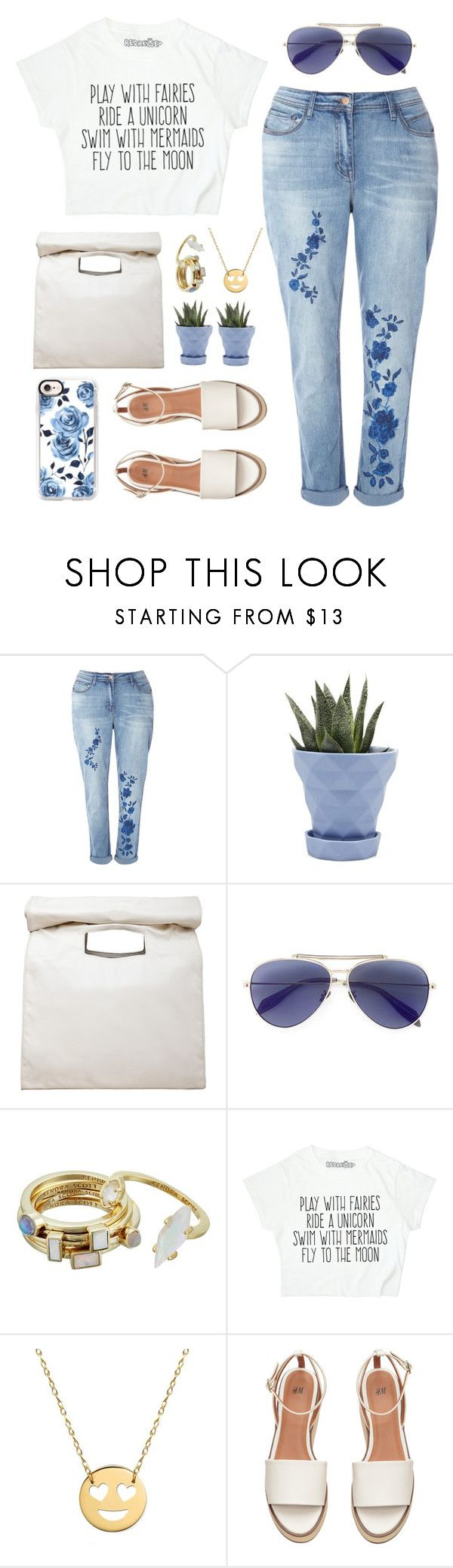 """Flowers"" by lanagur on Polyvore featuring мода, Chive, Limi Feu, Alexander McQueen, Kendra Scott, Jane Basch и Casetify"