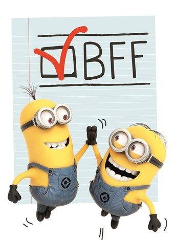 Liefde kaart - Vriendschapskaart - minions bff