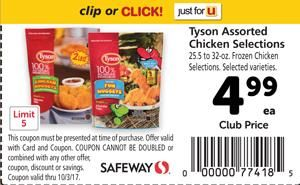 Tyson Assorted Chicken Selections