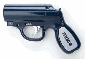 Mace Pepper Gun with a 25-ft range. I would LOVE to have one of these for safety.