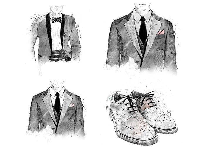 Beautiful hand drawn menswear illustrations from Van Data :: The Drawing Arm :: #menswear #fashionillustration #illustration #handdrawn #sketch #suit #fashion #commercialillustration