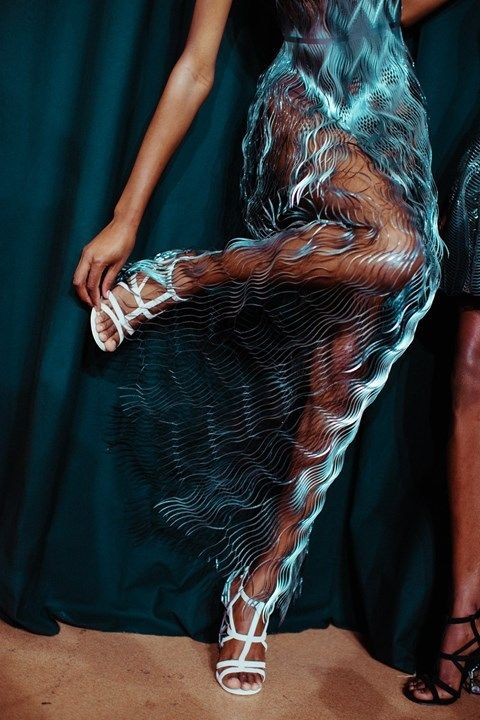 "Amazing midnight-charm: ""Photography by Lillie Eiger at Iris van Herpen Haute Couture …"