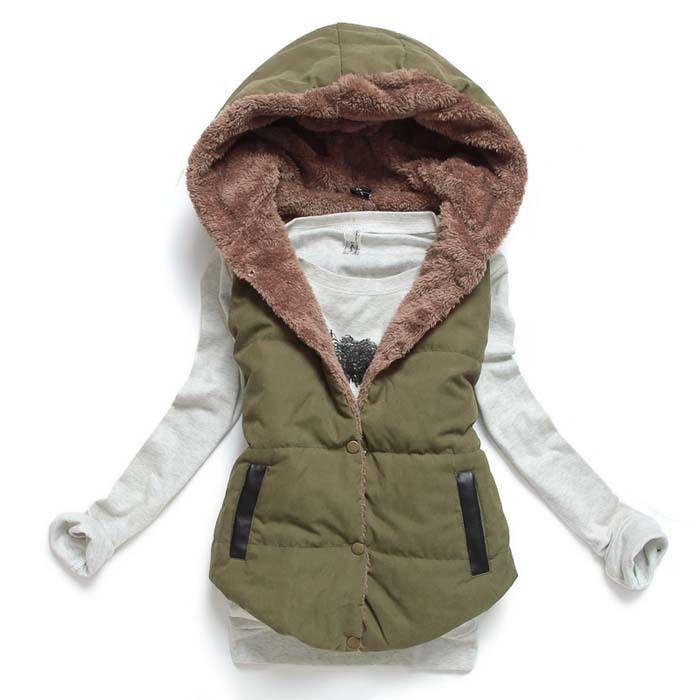 2015 Hot Selling Women Cotton Jacket Sleeveless Women Coat Hoody Winter Cotton  thicken Women Jacket MJ1-in Basic Jackets from Women's Clothing & Accessories on Aliexpress.com | Alibaba Group