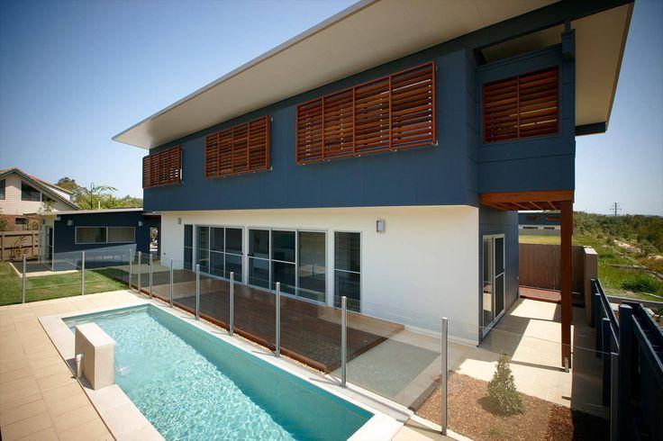 This Byron Bay Beach House is beautifully clad in James Hardie's Easylap panels #home #house #cladding #jameshardie #exterior #coastal #doublestorey #australia