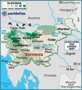 Slovenia Map / Geography of Slovenia / Map of Slovenia - Worldatlas.com