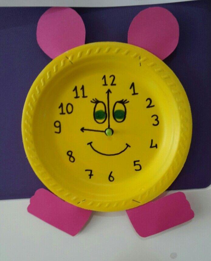 # Okul öncesi parmak boyası etkinliği - Saat