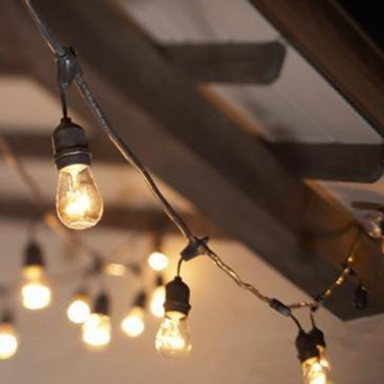 String Lights Outdoor Industrial : Outdoor Commercial 15-Light String Light Set Maxwell s Daily Find 0?