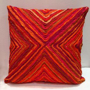 Katran Cushion : Kite Line Pattern : Red Cushion Cover