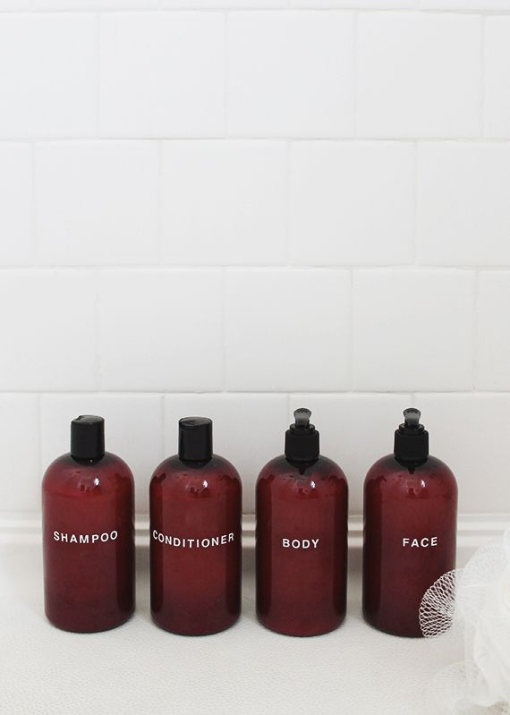 shampoo bottles diy