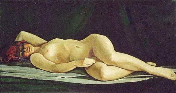 спящая толстая обнаженная девушка. эротическая живопись и графика, ню, эротика