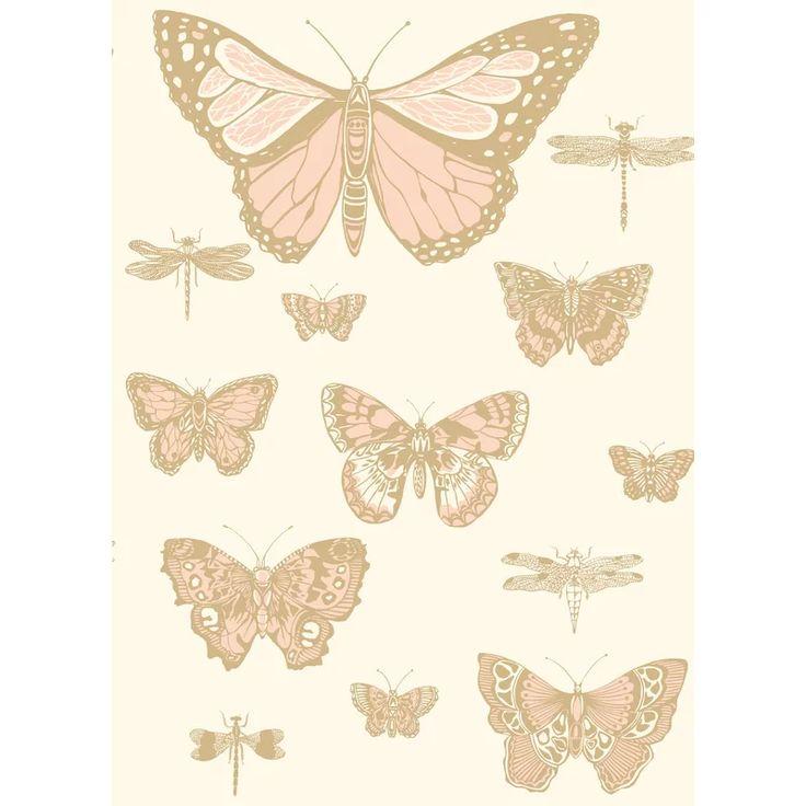 """Butterflies and Dragonflies 33' L x 20.5"""" W Wallpaper Roll ..."""