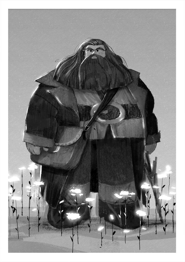 tatoart:  I had no idea what to draw today, i saw a few fanarts of harry potter on the web for abcmeaharry, so i drew Hagrid.