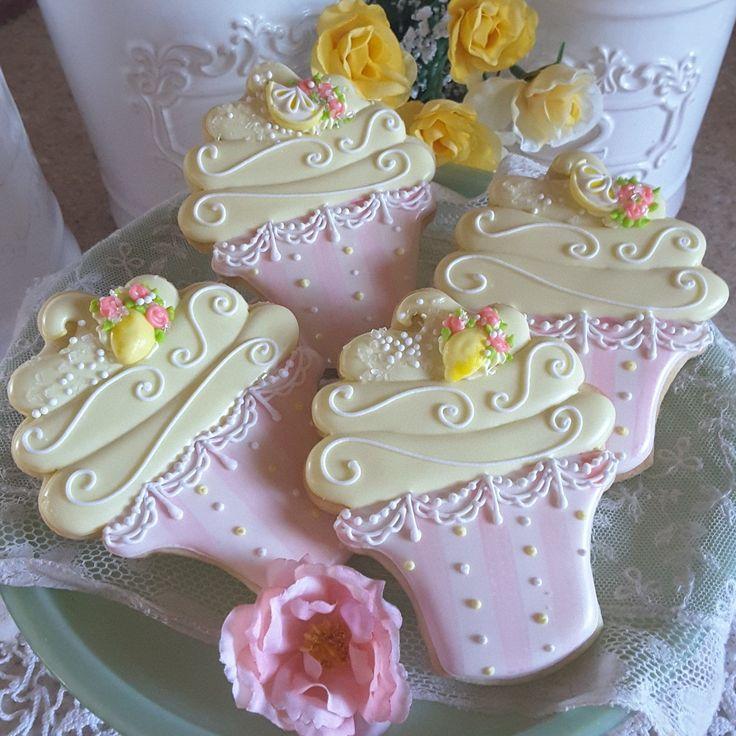 Pink lemonade cookies,  summer cookies,  decorated cookies,  cupcake cookies,  sugar cookies