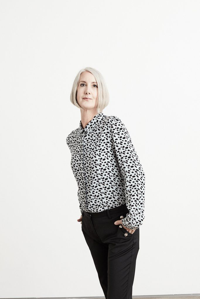 #blouse #dot #print #aw17 #fashionover50 #styleover50 #nowomanisinvisible #chic #sophisticated #elegant #fiftyplus #midlife #midlifestyle #fabover50  10% off first orders. Its name alone states this is the perfect blouse, and it's hard to disagree. Hand-printed with a beautiful crazy zoo light blue print, this flowing blouse as concealed buttons and a feminine narrow collar. And the-Bias-Cut.com chose it specially due to it's beautiful quality viscose that feels divine to wear.