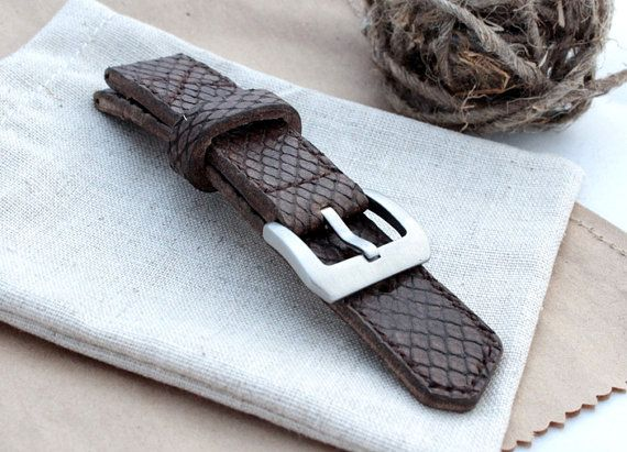 Handmade Leather Watch Strap Men's Leather Watch band