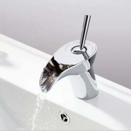 Novelty Design Mixer Waterfall Wash Bathroom Basin Tap T1304