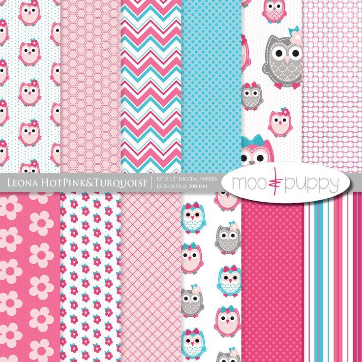 Owl Digital Scrapbook Paper