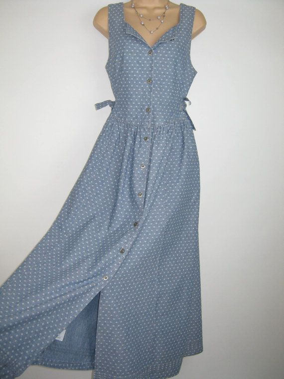LAURA ASHLEY Vintage Chambray Country by VINTAGELAURAASHLEY