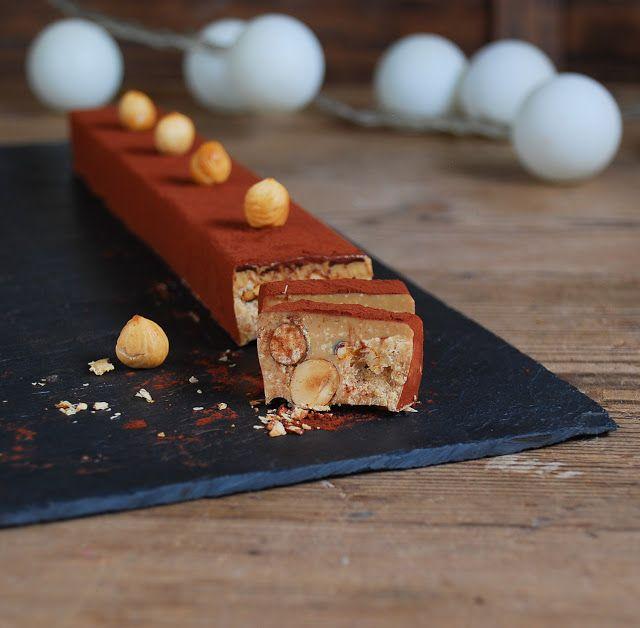 Turron de chocolate dulcey con avellanas caramelizadas