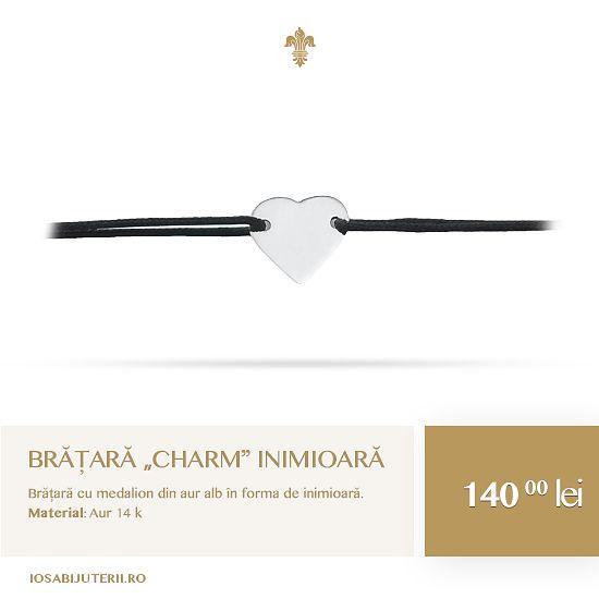Delicate și elegante, brățările de tip charm pot fi o modalitate deosebită de a avea aproape gânduri pozitive.   Află mai multe detalii pe http://www.iosabijuterii.ro/bijuterii/bratara-charm-inimioara-2/ »