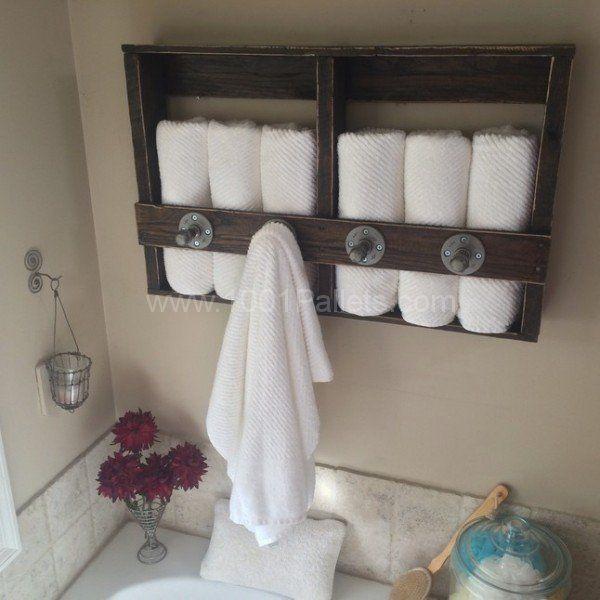 Bathroom Towel Storage 651 best pallet bathroom images on pinterest | bathroom ideas