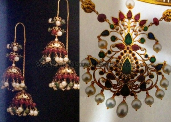 Jewellery Designs: Earrings and Pendant