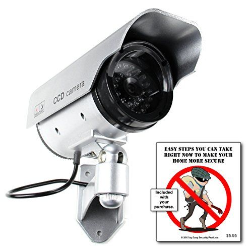 Best price on Best Dummy Camera Solar Powered - Blinking Red LED Light - Internal Lithium Rechargeable Battery - Never Buy Batteries Again - Dummy Security Cameras - Fake Outdoor Security Cameras - Home - Business See details here: http://needgadget.com/product/best-dummy-camera-solar-powered-blinking-red-led-light-internal-lithium-rechargeable-battery-never-buy-batteries-again-dummy-security-cameras-fake-outdoor-security-cameras-home-business/ Truly the best deal for the new Best Dummy…