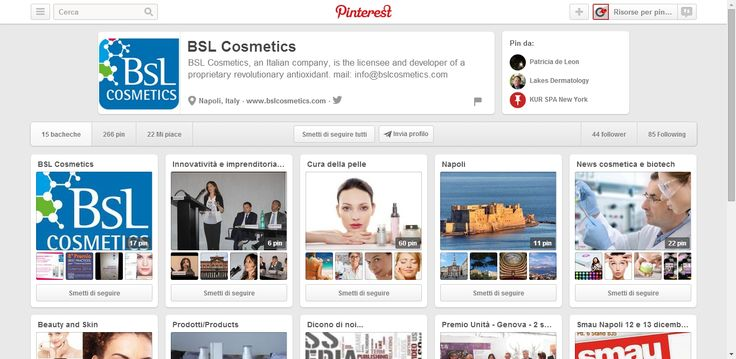 BSL Cosmetics Profile on Pinterest ; BSL Cosmetics is the licensee and developer of a proprietary revolutionary antioxidant.